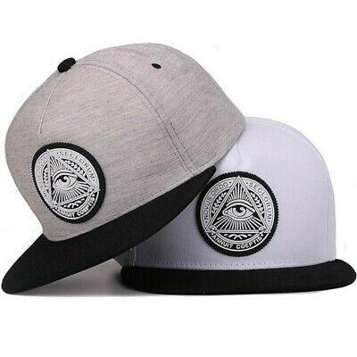 AKIZON Illuminati Snapback Hats for Men Wide Brim Baseball Cap Fashion Style NEW