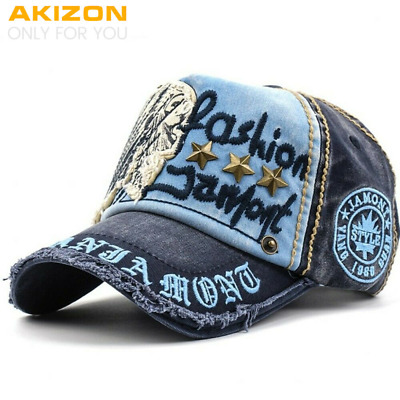 Distressed Hat Baseball Caps Cool Hats for Women Men Adjustable Cotton Gorras