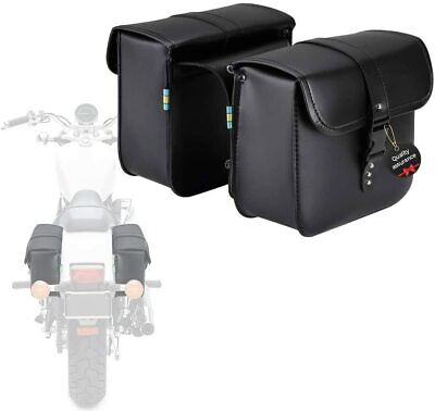 Saddle Bag Luggage Bag Fork Tool Pouch PU Leather For Motorcycle Yamaha bags