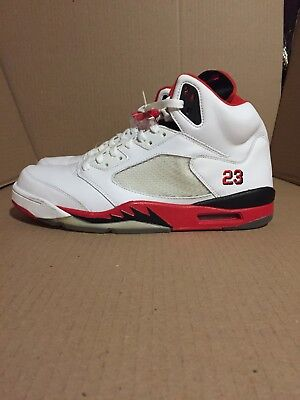 huge selection of 7eda3 f9a79 (2006) NDS Air Jordan 5 Retro Fire Red Black Size 12 136027-162
