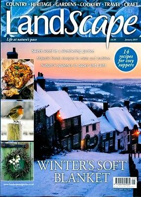 Landscape Magazine January 2019 ~ New With Free Fast P&p ~