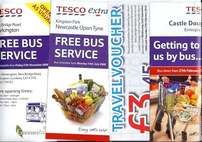 Tesco Castle Douglas Workington Newcastle Kingston Park bus times 4 pieces