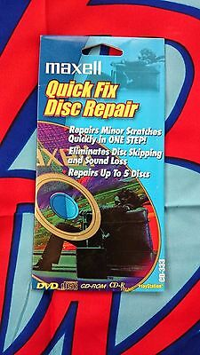 2 Maxell Quick Fix Disc Repair Kit - Repairs up to 10 discs CD/DVD/Blu-Ray CD333