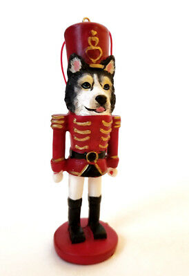 Siberian Husky Dog Nutcracker Soldier Christmas Ornament Tree Decoration
