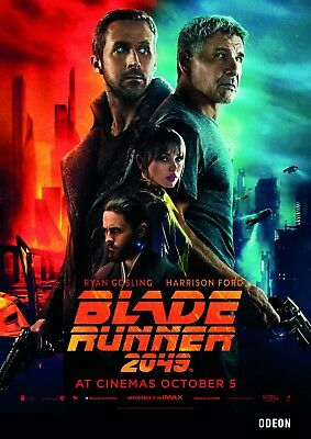 Blade Runner 2049 ODEON Movie Poster A3 Harrison Ford Ryan Gosling