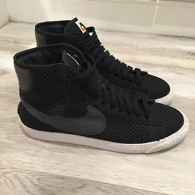 the best attitude 6821d 552c8 Nike Blazer Mid Mesh Sneakers Womens 7.5 Black Gray Sincerely Jules