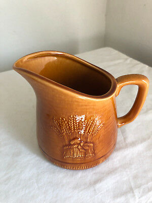 Franciscan Ware Harvest Brown Golden Wheat Pattern 20 Oz. Pitcher