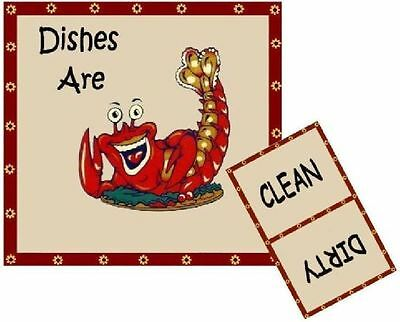 LOUISIANA CAJUN CRAWFISH  DISHWASHER MAGNET - Ship FREE