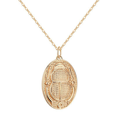 Ancient Egyptian Men Necklace Hieroglyph Cartouche Scarab Beetle Insect Pendant