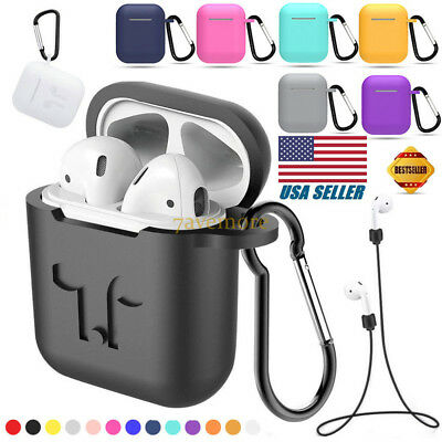 Silicone Case Cover Shockproof Protective Skin for Apple AirPods Airpod Durable