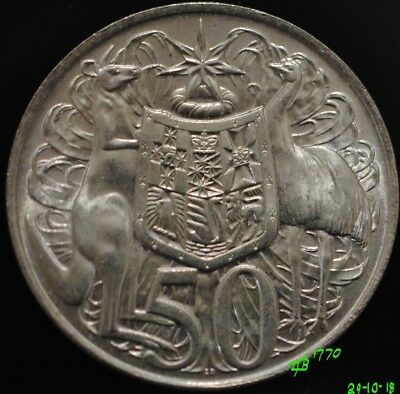 1966 Australian Round Fifty 50 Cent Coin, 80% Silver. #2