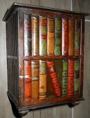 Antique Huntley & Palmers LIBRARY BOOKCASE Biscuit Tin