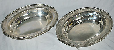 Antique Sterling Silver Vegetable Dish Engraved Gadroon Gorham Whiting Bailey