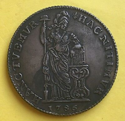 Netherlands East Indies 3 GULDEN (1786) KM# 54 (Rare!!!)