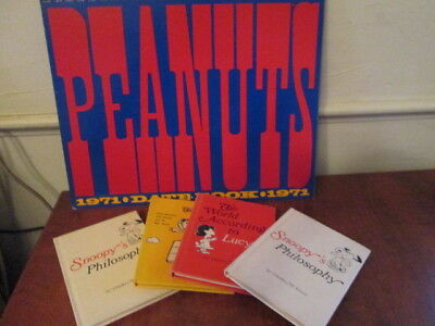 VTG Snoopy's Philosophy Flying Aces Lucy Books 1971 date book  Peanuts Calendar