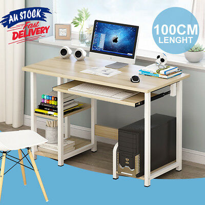 Wood Metal Study Student PC Computer Home Office Desk Furniture Laptop Table