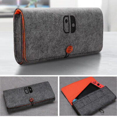 Soft Felt Protective Pouch Storage Bag Travel Carrying Case for Nintendo Switch