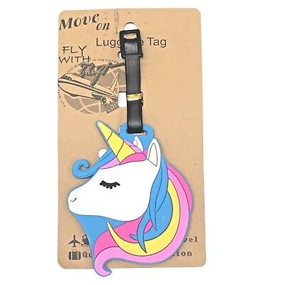 Unicorn Travel Luggage Baggage School Tag Tags ID Name Address  Bag Label AU