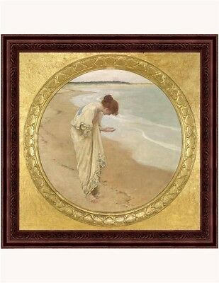 Victorian Trading Co Sea Hath Its Pearls Woman on the Beach Unframed Print