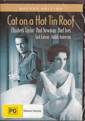 Cat On A Hot Tin Roof - Paul Newman - New & Sealed Region 4 Dvd Free Local Post
