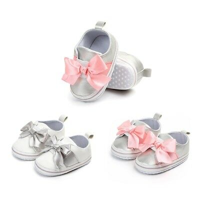 Baby Girls Princess Shoes Soft Sole Newborn Infant Toddler Prewalkers Sneakers