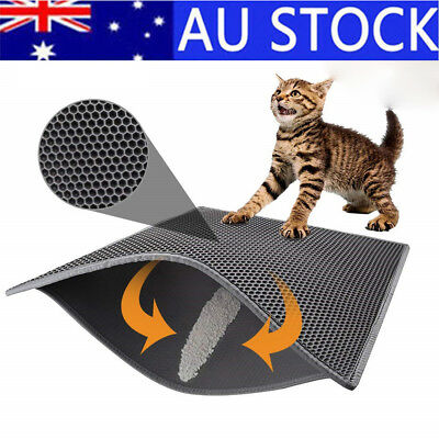 Cat Litter Mat Anti-Tracking Honeycomb Trapping Mat Double Layer Urine Proof