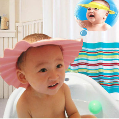 Lovely Safe Shampoo Baby Shower Cap Bathing Bath Protect Soft Hat For Baby Kids