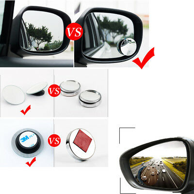 1* Discounted Car Rear View Mirror 360° Rotating Wide Angle Convex Blind Spot