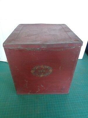 Vintage bulk tea tin EDWARDS TEA