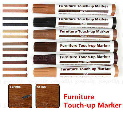 Furniture Scratch Marker 6 Shades Touch Up Pen Laminate Wood Floor Marks Repair