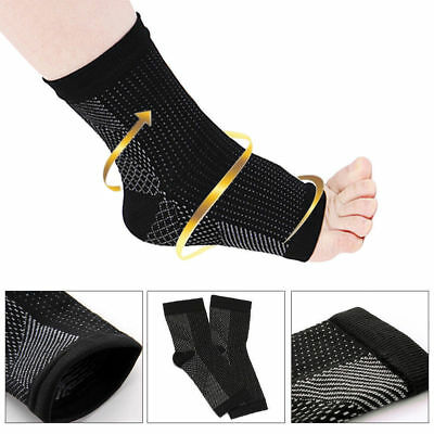 Foot Socks Sleeve Plantar Fasciitis Compression Ankle Support Brace Achy Heel AU