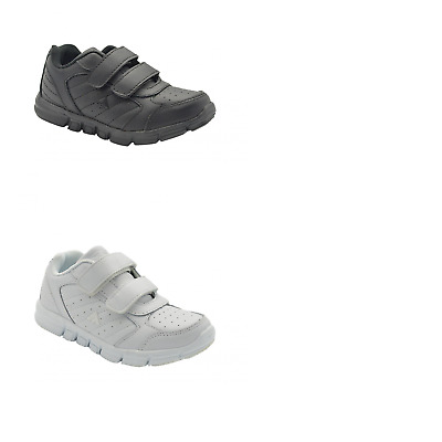 Unisex Children Aerosport Fusion Jnr Black White Sneakers Casual Comfort Shoes