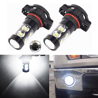 High Power H16 50W LED 6000K SUPER White Car Driving Fog Light Bulbs Lamp DRL