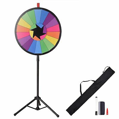"""24"""" Prize Wheel - Editable Dry Erase Color Fortune Spinning Game Floor Stand AU"""