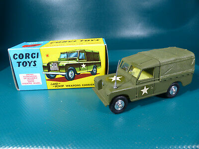 Corgi Toys 357 Military Land Rover Weapons Carrier  - 1960's NOS MIB Lagerfund