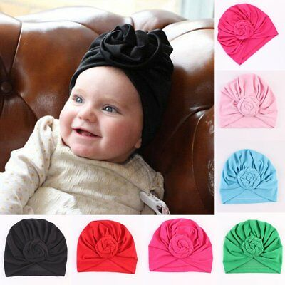 b867799c83fa LOVELY INFANT BABY Kids Knotted Hat Toddler Cotton Crochet Knit ...