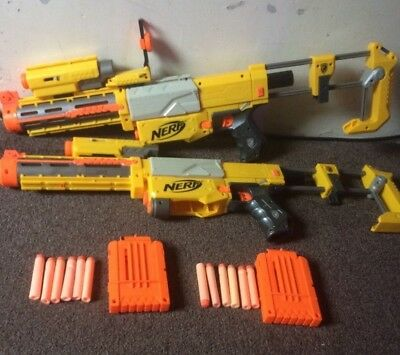 Nerf Recon CS-6 Toy Guns x2 with Accessories and 12 Darts