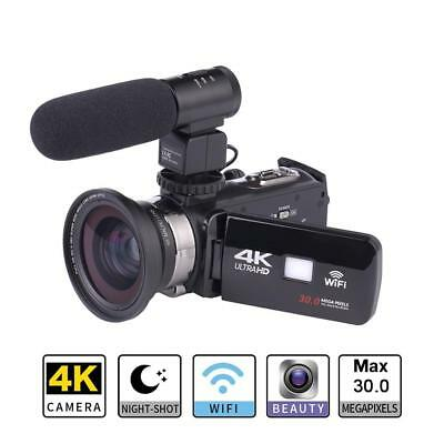WiFi 4K Ultra HD ZOOM infrared Night Vision DV Digital Video Camera Camcorder