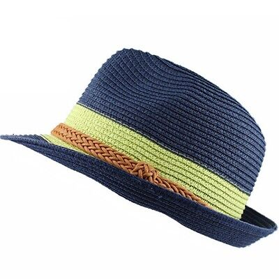 Straw Hat Fedora Solid Braid Hats Fashion Trilby Hat Summer Beach Panama Hat