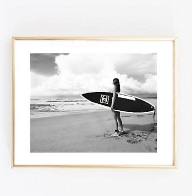 miss coco suffer girl black and white print poster