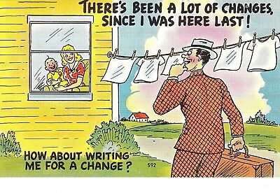 "VINTAGE 1930-40's Comic ""THERE'S Been A LOT Of Changes Since I Was Here LAST ""PC"
