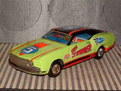 Tps Rare Fully Tin Ford Mustang Mach 1 The Swinger Perfectly Operational! T.p.s.
