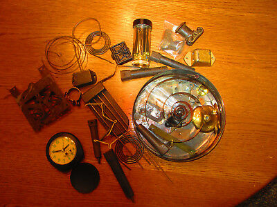 Vintage Lot Clock Repair Parts Pieces Misc Steampunk Over 6 Lbs ( 295H)