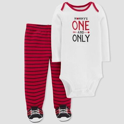 JUST ONE YOU BY CARTER'S Baby Boys' Mommy's One & Only 2pc Set Valentine's Day