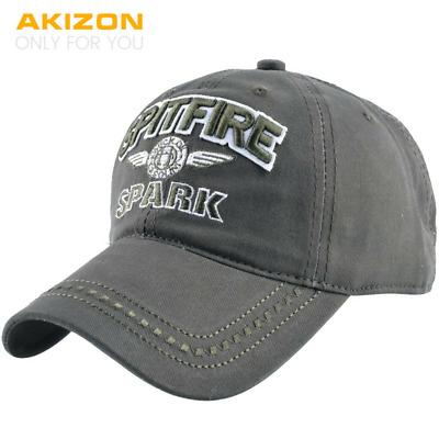 AKIZON Adjustable Baseball Hats Men Summer Letter SPITFIRE Women Baseball Caps