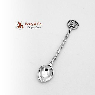 Hand Made Egyptian Coffee Spoon Sterling Silver 1960