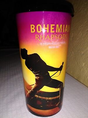 QUEEN Bohemian Rhapsody FREDDY MER PROMO CUP 36oz NEW MOVIE CINEMEX MEXICAN 2018