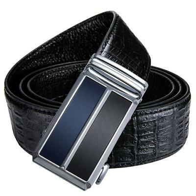 Luxury Mens Belts Black Genuine Leather Designer Automatic Buckle Strap Formal
