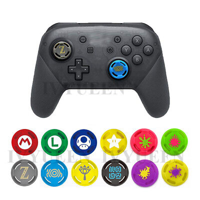 2pcs Joystick Thumb Grips Silicone Caps Cover for Nintendo Switch Pro Controller