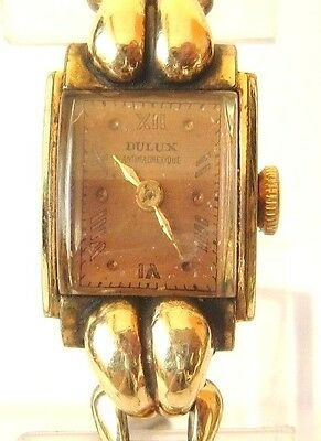 Vintage*Art Deco*Dulux*Antimagnetique Swiss Mechanical Ladies Watch,Serviced# 24